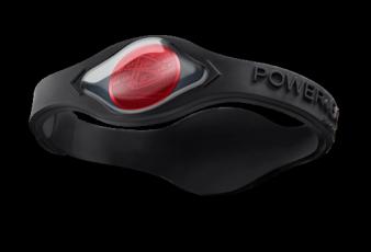Silikonový Power Balance náramek černý (červený hologram)